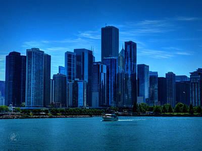Chicago Skyline 001 Poster by Lance Vaughn