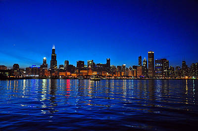 Chicago Skyline At Dusk Poster