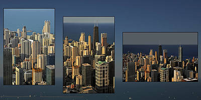 Chicago Skyline From Willis Tower Poster by Christine Till