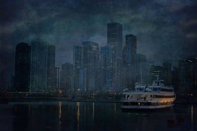 Chicago Skyline Poster by Joel Witmeyer