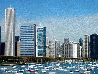 Poster featuring the photograph Chicago Skyline by Kathie Chicoine