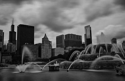 Poster featuring the photograph Chicago City Skyline by Miguel Winterpacht