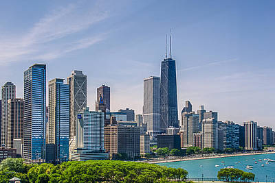 Chicago Skyline North View Poster