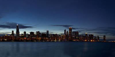 Chicago Skyline Panorama Poster by Andrew Soundarajan