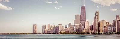 Chicago Skyline Panorama Retro Photo Poster by Paul Velgos