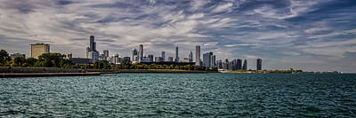 Chicago Skyline Panoramic Crop Poster by Sven Brogren