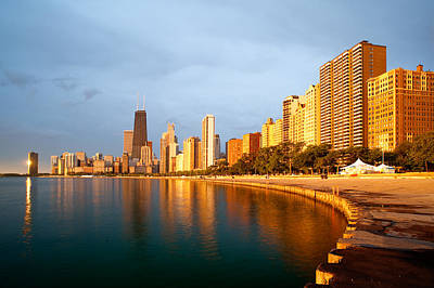 Poster featuring the photograph Chicago Skyline by Sebastian Musial