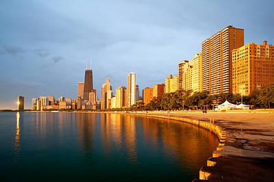 Chicago Skyline Poster by Sebastian Musial