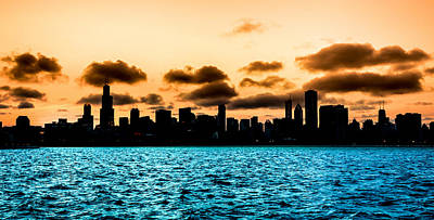 Chicago Skyline Silhouette Poster