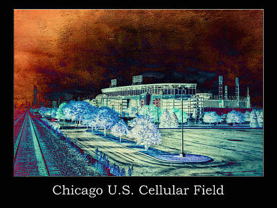 Chicago Us Cellular Field Textured Poster