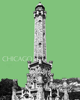 Chicago Water Tower - Apple Poster by DB Artist