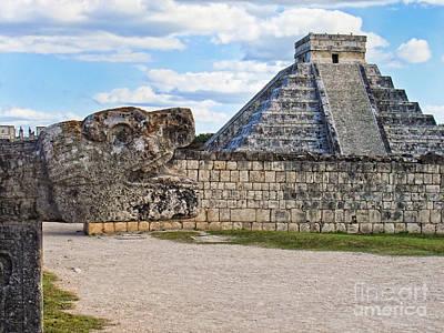 Chichen Itza - Mexico. View On El Castillo Pyramid. Poster by Renata Ratajczyk
