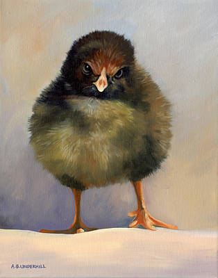 Poster featuring the painting Chick With Attitude by Alecia Underhill