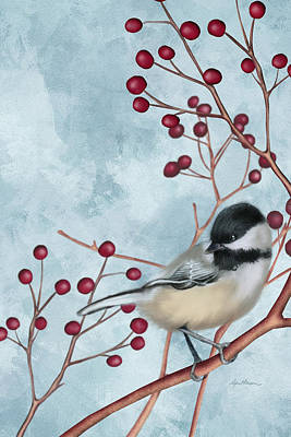 Chickadee I Poster by April Moen