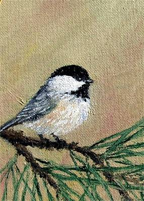 Chickadee Set 17 Bird 1 Detail Print Poster