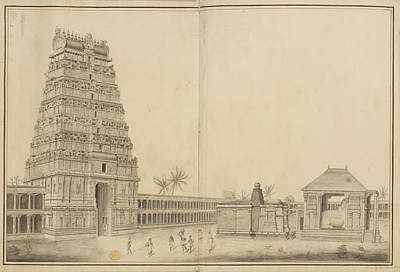 Chidambaram Temple Poster by British Library