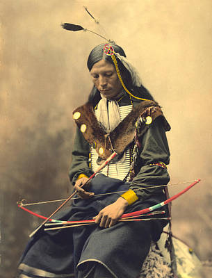 Chief Bone Necklace Oglala Lakota Poster