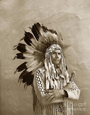 Chief Red Eagle Carmel California Circa 1940 Poster
