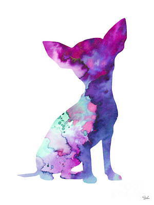 Chihuahua 7 Poster by Watercolor Girl