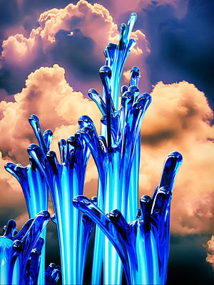 Chihuly Blues Poster by John Haldane