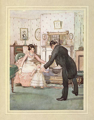 Child And Butler Poster by British Library