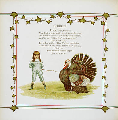 Child And Turkey Poster by British Library
