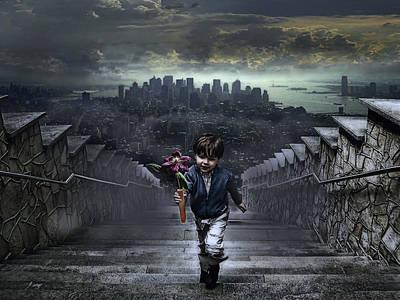 Child Of New York Poster by Joachim G Pinkawa