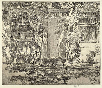 Childe Hassam, Old Doorway, East Hampton Poster by Quint Lox