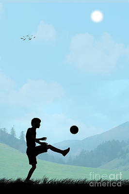 Childhood Dreams Football Poster by John Edwards