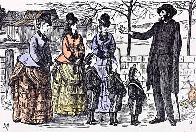 Children And A Broken Egg-shell 1874 Ladies Man Walk Street Poster by English School
