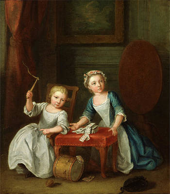 Children At Play, Probably The Artists Son Jacobus Poster by Litz Collection
