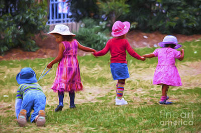 Children At Play Poster by Avalon Fine Art Photography