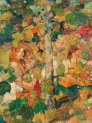 Children Dancing Around A Tree Poster