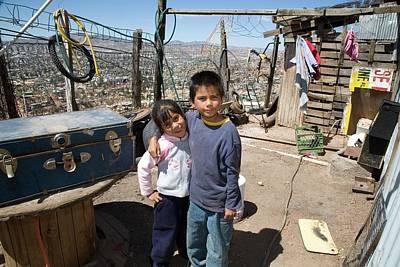 Children In A Slum Poster by Jim West