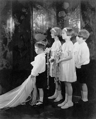 Children In A Wedding Procession Poster