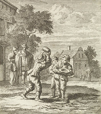 Children Play A Game, Zacharias Chatelain II Poster