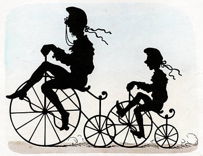 Children Riding Velocipedes Poster by Cci Archives