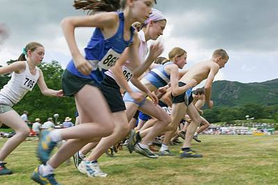 Children Start A Fell Race Poster