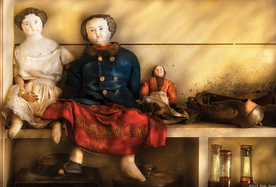 Children - Toys - Assorted Dolls Poster by Mike Savad