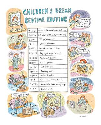 Children's Dream Bedtime Routine Poster by Roz Chast