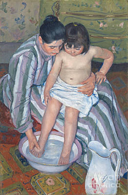 Child's Bath 1893 Poster by  Mary Stevenson Cassatt