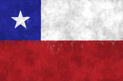 Chile Flag Poster by World Art Prints And Designs