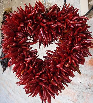 Poster featuring the photograph Chili Pepper Heart by Kerri Mortenson