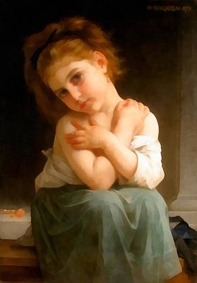 Chilly Girl Poster by William Bouguereau