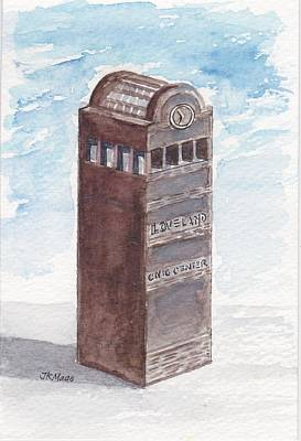 Chilson Clock Tower Poster by Julie Maas