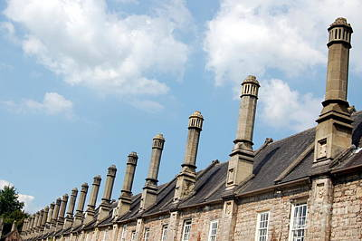 Poster featuring the photograph Chimney Stacks At The Ready by Linda Prewer