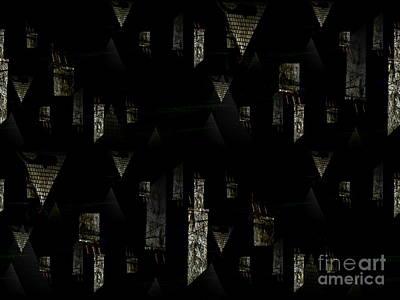 Chimney Abstract Poster by Barbara Moignard