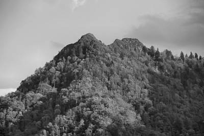 Chimney Tops In The Smokies Black And White Poster