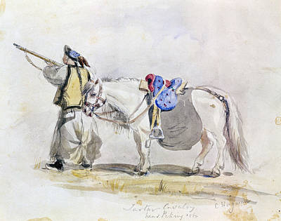 China Cavalryman, 1860 Poster