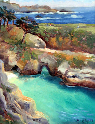 China Cove Point Lobos Poster by Karin  Leonard